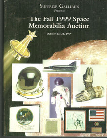Superior Galleries Fall 1999 Space Memorabilia Auction