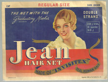 Jean Hair Net Package Dark Brown, Regular Size, Cap