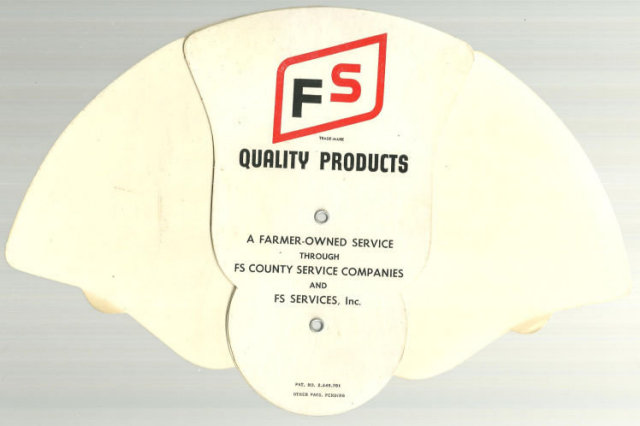 FS County Service Companies Advertising Fan with Southern Belles