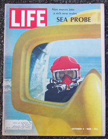 Life Magazine October 4, 1968 Sea Probe on cover