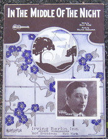 In the Middle of the Night Sung by Bernard Weber 1925