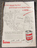 1955 George Price Gaines Dog Food Magazine Ad