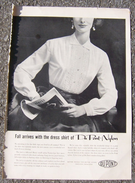 1955 Fall Arrives with DuPont Nylon Dress Shirt Ad
