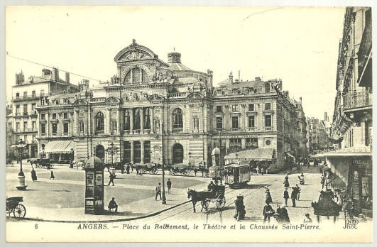 Postcard of  Place du Roulement Angers, France