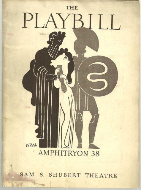 Playbill Alfred Lunt and Lynn Fontanne in Amphitryon