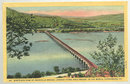Postcard Bird's Eye View of Rockville Bridge Harrisburg, PA