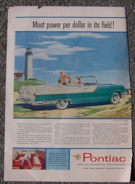 1955 Pontiac Star Chief Life Magazine Advertisement