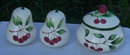 Ripi Sugar and Salt and Pepper Shakers with Cherries