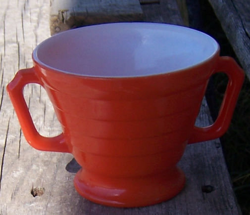 Vintage Hazel Atlas Moderntone Orange Platonite Sugar