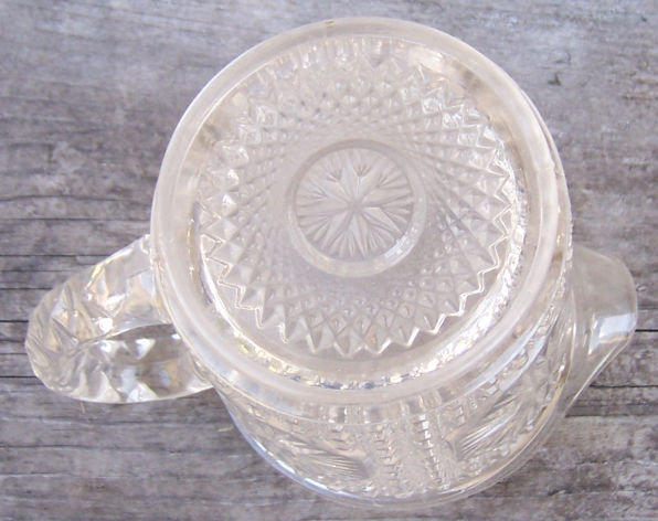 Imperial Glass Star Medallion Clear Milk Pitcher