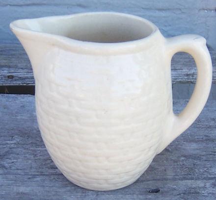Weller Pottery Pierre Basketweave Milk Pitcher