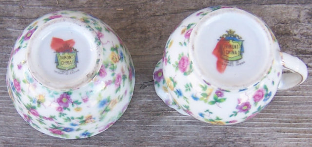 Flower Chintz Occupied Japan China Cream and Sugar