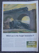 1945 American Locomotive Life Magazine Advertisement