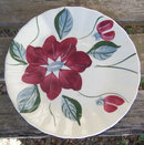 Vintage Blue Ridge Pottery Poinsettia Small Plate