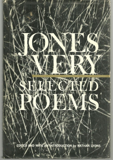 Selected Poems by Jones Very 1966 1st edition with DJ