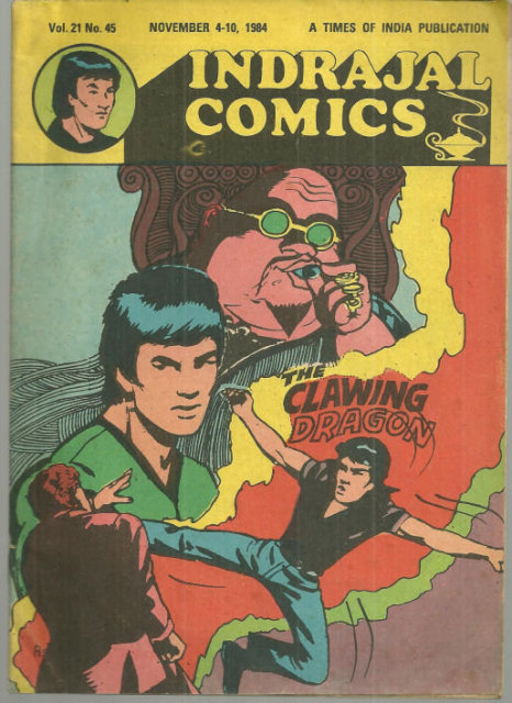 Indrajal Comics Clawing Dragon No. 21 Vol. 45 1984