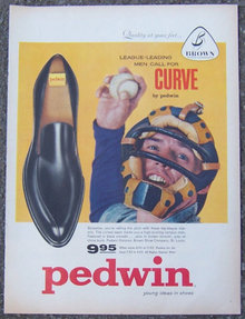 1959 Pedwin Curve Men's Slip Ons Shoe Life Magazine Advertisement