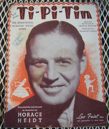 Ti-pi-tin 1938 Sheet Music Introduced by Horace Heidt