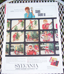 1963 Sylvania Christmas Magazine Advertisement