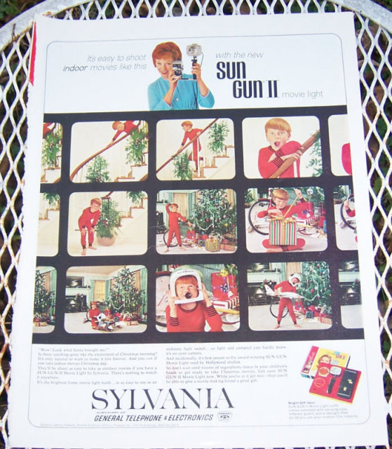 1963 Sylvania Christmas Magazine Advertisement