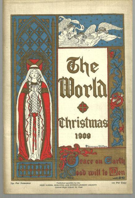 The World Christmas 1909 Central High School St. Paul, MN