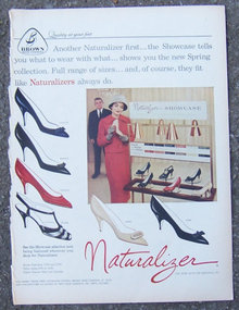 1959 Naturalizer Showcase Life Magazine Shoe Ad