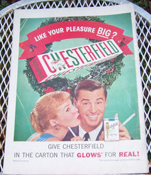 1956 Chesterfield Christmas Life Magazine Advertisement