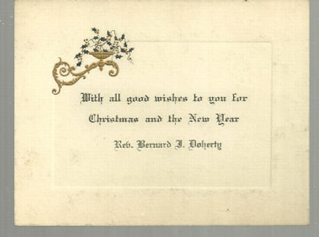 Vintage Merry Christmas and New Year Card With Holly