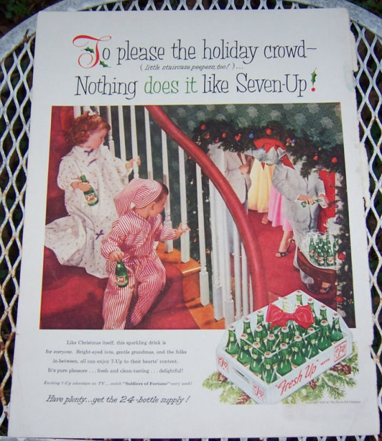 1956 Seven-Up Magazine Christmas Advertisement