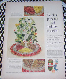 1956 Heinz Pickles Magazine Christmas Advertisement