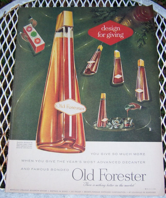 1956 Old Forester Life Magazine Christmas Advertisement