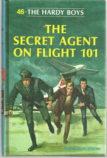Secret Agent of  Flight 101 Hardy Boys #46 Matte Blue