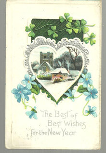 Best Wishes for the New Year Postcard with Snowy Scene