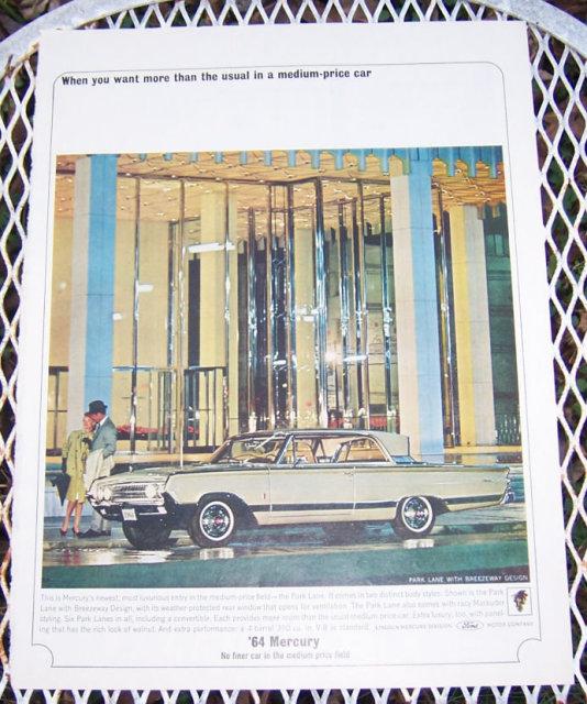 1963 Mercury Park Lane Automobile Magazine Advertisment