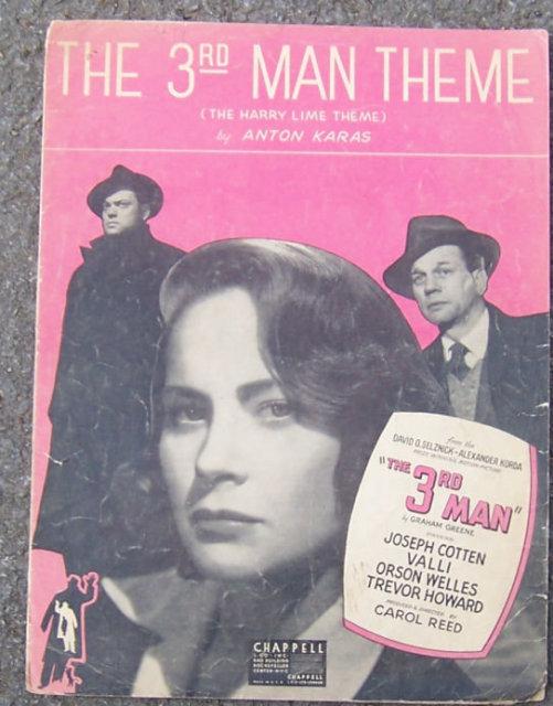 3rd Man Theme The Harry Lime Theme 1949 Sheet Music