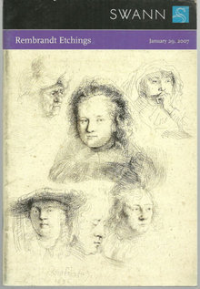 Swann Galleries Rembrandt Etchings Sale 2101 2007