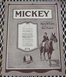 Mickey Mabel Normand Sheet Music 1918 Mack Sennett