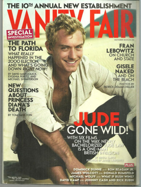 Vanity Fair Magazine October 2004 Jude Law on Cover