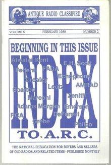 Antique Radio Classified Mag February 1988 AC Radios