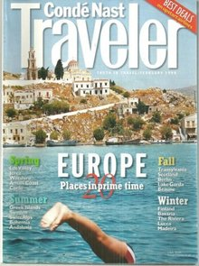 Conde Nast Traveler Magazine February 1999 Europe