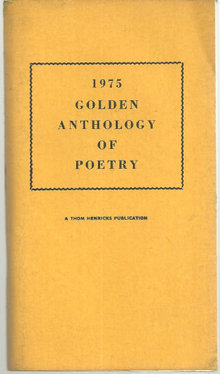 1975 Golden Anthology of Poetry Edited by Betty Dalton