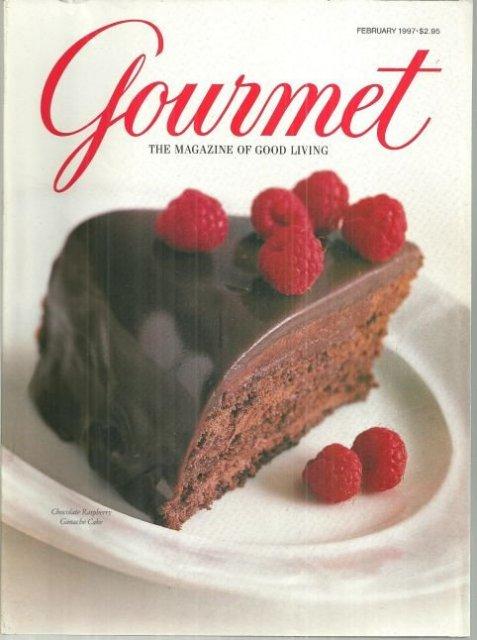 Gourmet Magazine February 1997 Chocolate Cakes