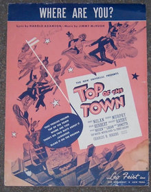 Where are You From Top of the Town 1936 Sheet Music
