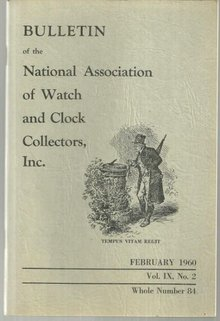 Bulletin of the National Watch and Clock Coll February 1960