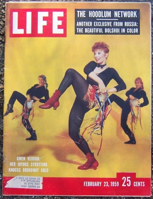 Life Magazine Febraury 23, 1959 Gwen Verdon on Cover
