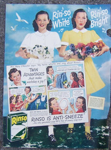 1945 Rinso Soap Twins Life Magazine Advertisement
