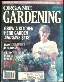 Organic Gardening Magazine March 1996 Herb Gardening