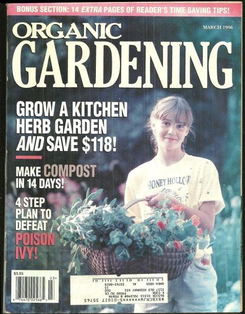 Organic Gardening Magazine March 1996 Herb Gardening