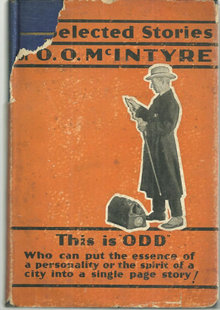 Twenty-Five Selected Stories of O. O. McIntyre 1930 DJ