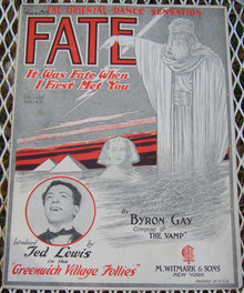 Fate It Was Fate When I First Met You 1922 Sheet Music